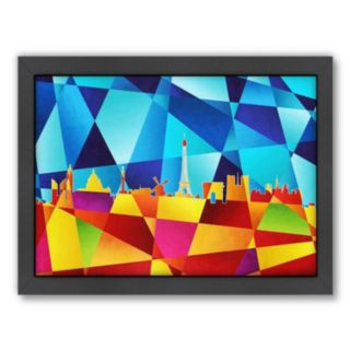 Americanflat Michael Tompsett ''Paris Skyline IV'' Framed Wall Art