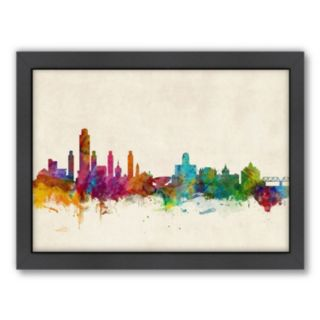 Americanflat Michael Tompsett ''Albany, New York Skyline IV'' Framed Wall Art