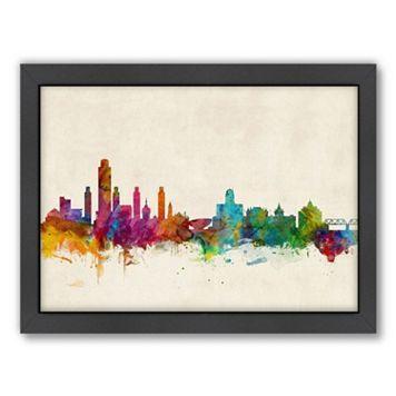 Americanflat Michael Tompsett ''Albany, New York Skyline IV'' Framed Wall Art