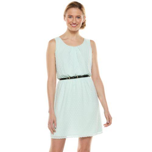 ELLE? Clip-Dot Crepe A-Line Dress - Women's
