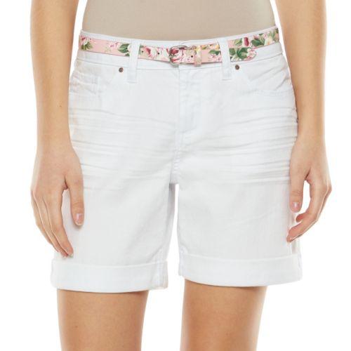 ELLE? Cuffed Jean Shorts - Women's