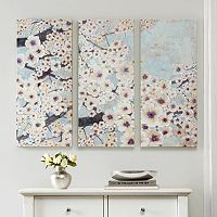 Madison Park 3-piece ''Gleeful Bloom'' Canvas Wall Art Set