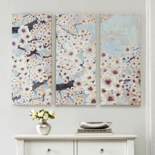 Madison Park 3-piece ''Gleeful Bloom'' Canvas Wall Art Set