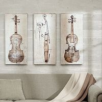 Madison Park 3-piece ''Violin Study'' Canvas Wall Art Set