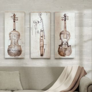 Madison Park 3-piece ''Violin Study'' Canvas Wall Art Set