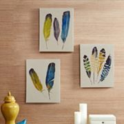 Madison Park 3 pc ''In the Wind'' Feather Wall Art Set