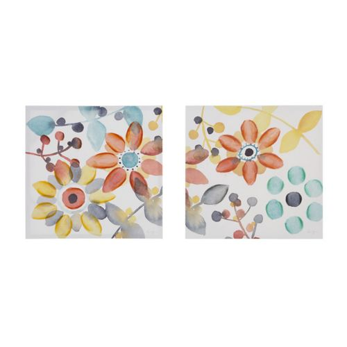 "Intelligent Design 2-piece ""Sweet Florals"" Canvas Wall Art Set"