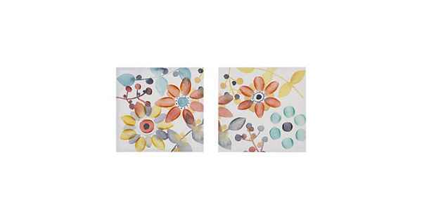 Intelligent Design 2-piece ''Sweet Florals'' Canvas Wall