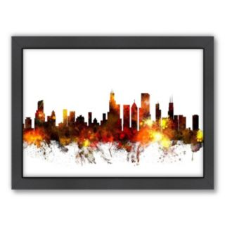 Americanflat Michael Tompsett ''Chicago Skyline VI'' Framed Wall Art