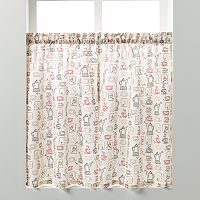 Saturday Knight, Ltd. Breaktime Tier Curtain Pair - 58'' x 36''