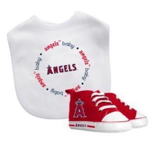 Baby Fanatic Los Angeles Angels of Anaheim Bib and Pre-walker Set