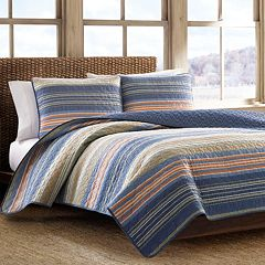 Eddie Bauer Yakima Valley Blue Reversible Quilt Set