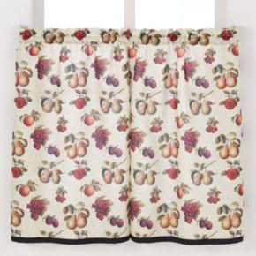 Saturday Knight, Ltd. Fruits Du Marche Tier Curtain Pair - 55'' x 36''