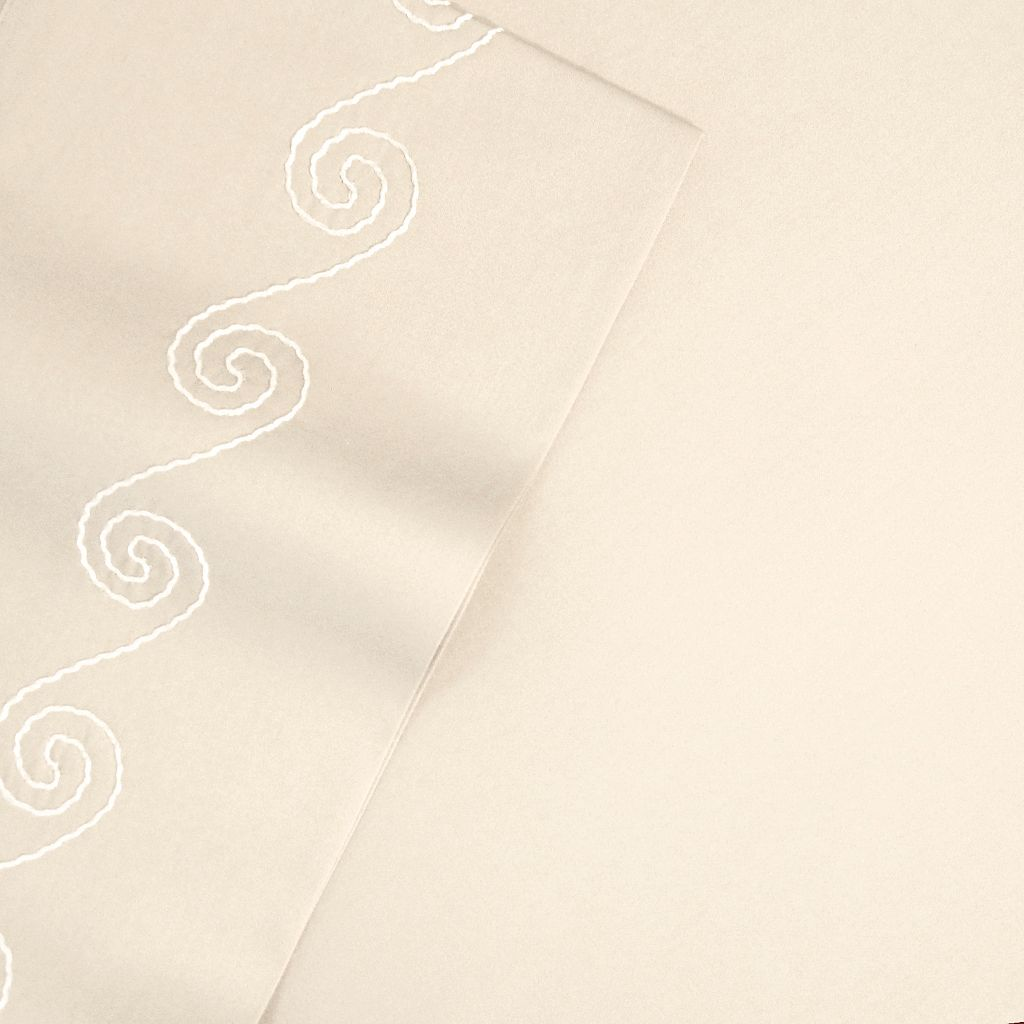Veratex American Collection Swirl 1200-Thread Count Cotton Sateen Deep-Pocket Sheets