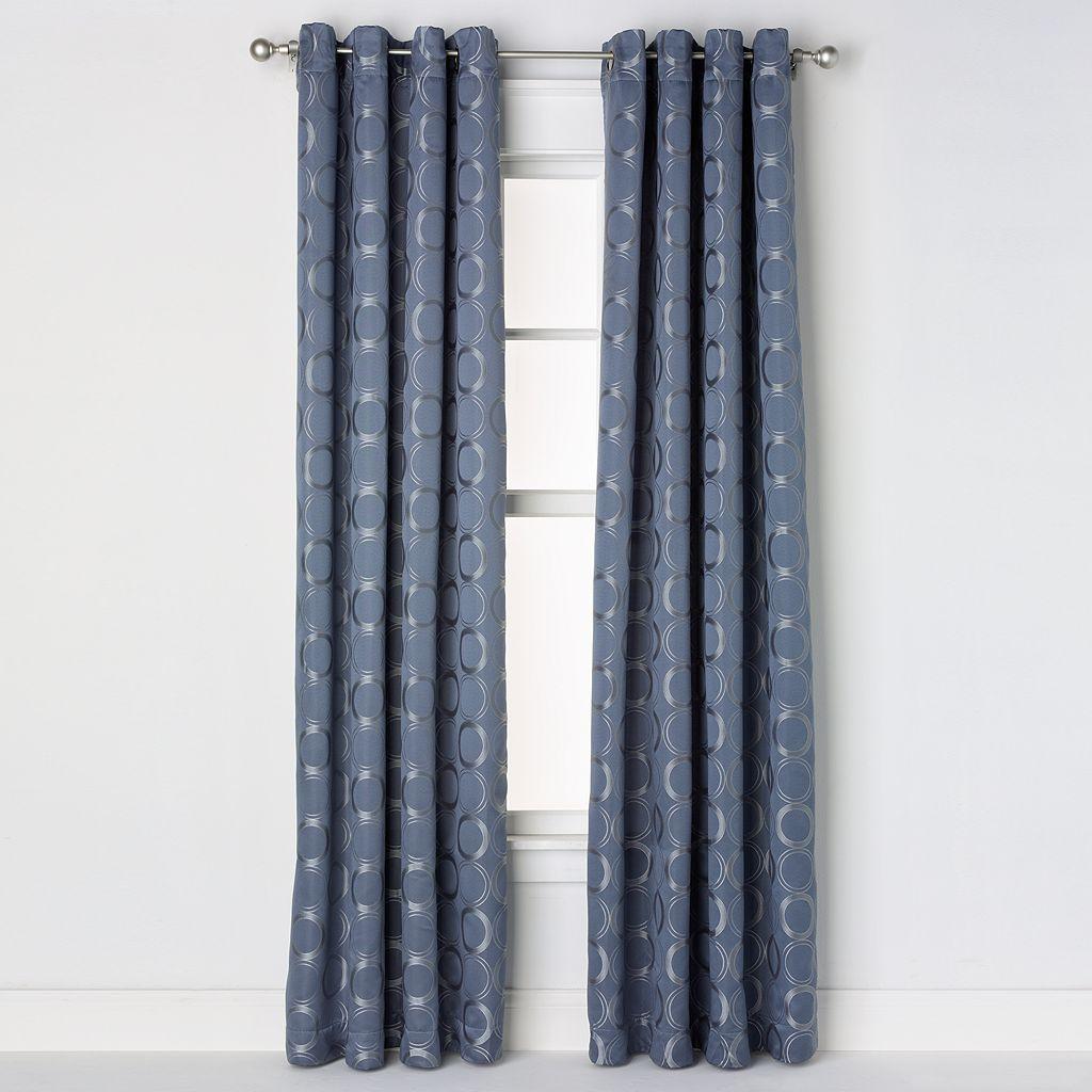 Saturday Knight, Ltd. Halo Jacquard Window Curtain - 52'' x 84''
