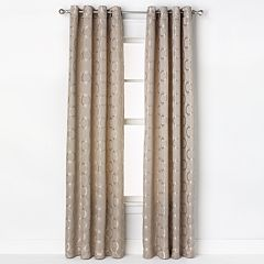 Saturday Knight, Ltd. 1-Panel Halo Jacquard Window Curtain - 52'' x 84''