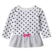 Jumping Beans® Bow Peplum Tunic - Baby Girl