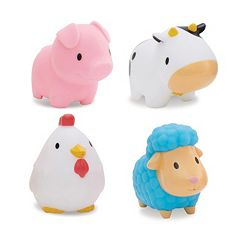 Munchkin Squirting Barnyard Friends Bath Toy Set