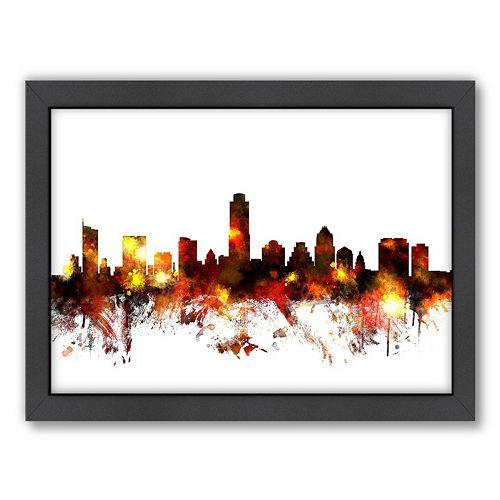 Americanflat Michael Tompsett ''Austin Skyline V'' Framed Wall Art