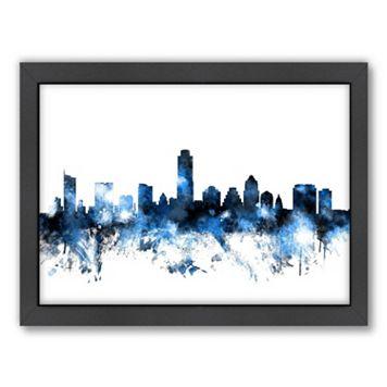 Americanflat Michael Tompsett ''Austin, Texas Skyline VI'' Framed Wall Art