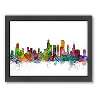 Americanflat Michael Tompsett ''Chicago Skyline I'' Framed Wall Art