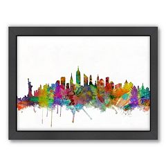 Americanflat Michael Tompsett ''New York City Skyline XII'' Framed Wall Art