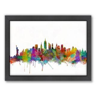 Americanflat Michael Tompsett ''New York City Skyline XII'' Framed Wall Art