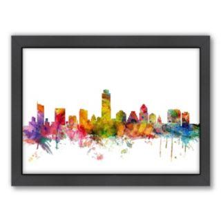 Americanflat Michael Tompsett ''Austin, Texas Skyline I'' Framed Wall Art