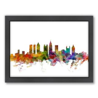 Americanflat Michael Tompsett ''Atlanta, Georgia Skyline II'' Framed Wall Art