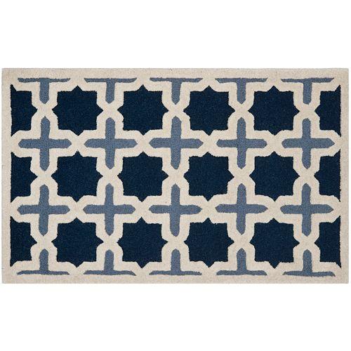 Safavieh Cambridge Blue Trellis Wool Rug
