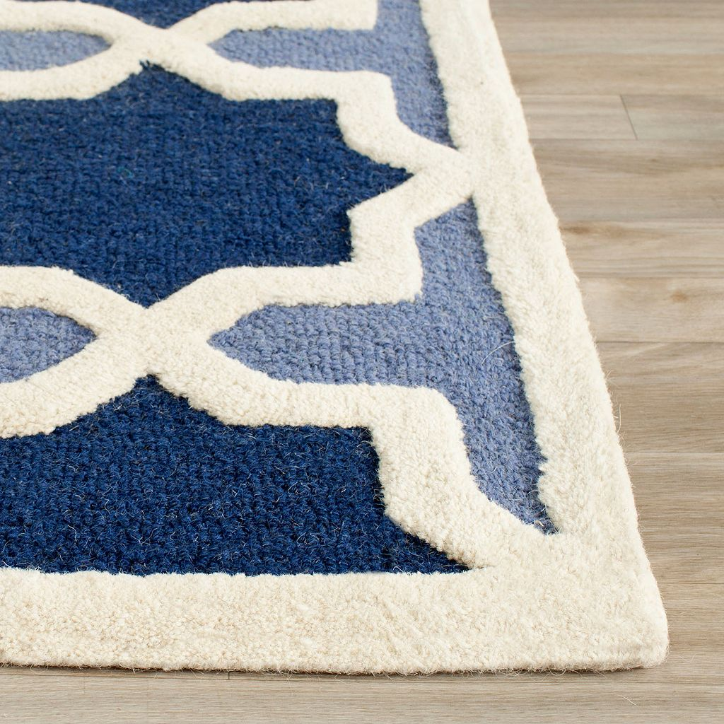 Safavieh Cambridge Blue Trellis Wool Rug