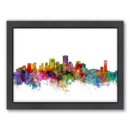 Americanflat Michael Tompsett ''New Orleans Skyline II'' Framed Wall Art