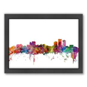 Americanflat Michael Tompsett ''Anchorage, Alaska Skyline'' Framed Wall Art