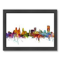 Americanflat Michael Tompsett ''Buffalo, New York Skyline'' Framed Wall Art