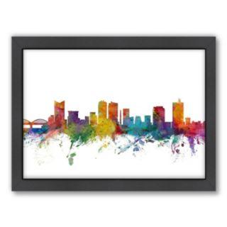 Americanflat Michael Tompsett ''Fort Worth Skyline'' Framed Wall Art