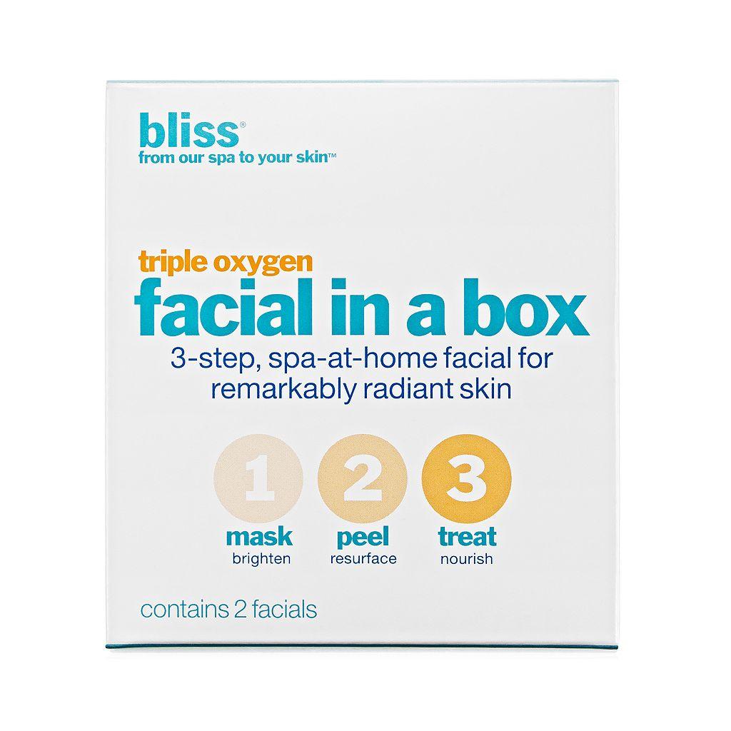 bliss Triple Oxygen Facial In A Box Set