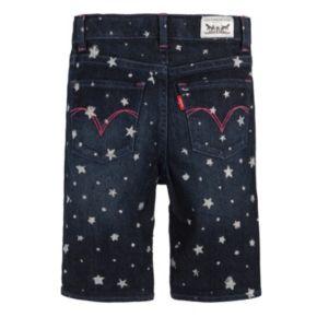 Toddler Girl Levi's Charlene Glitter Pattern Denim Bermuda Shorts