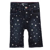 Toddler Girl Levi's Charlene Glitter Pattern Denim Bermuda Shorts