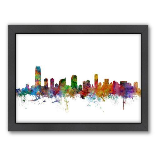 Americanflat Michael Tompsett ''New Jersey City Skyline'' Framed Wall Art