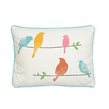 Ashbury Spring Bird Throw Pillow