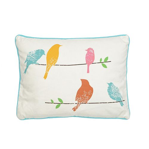 Ashbury Spring Bird Throw Pillow