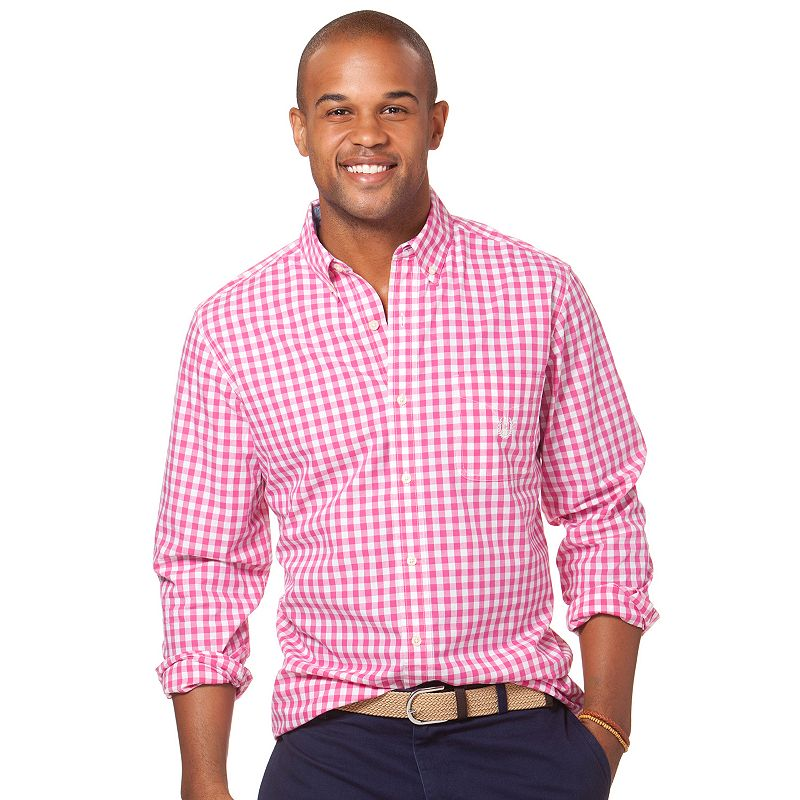 Mens gingham dress shirt kohl 39 s for Womens tall button down shirts