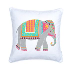 Riley Bright Elephant Throw Pillow