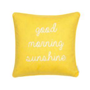 Riley Bright ''Good Morning Sunshine'' Throw Pillow