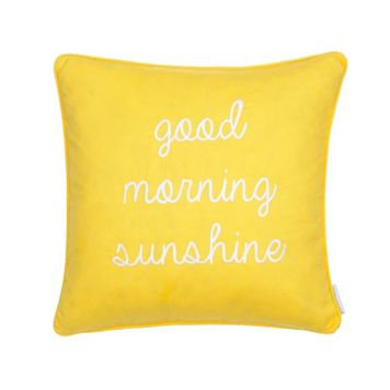 Riley Bright ''Good Morning Sunshine'' Throw Pillow