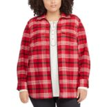 Plus Size Chaps Plaid Flannel Jacket