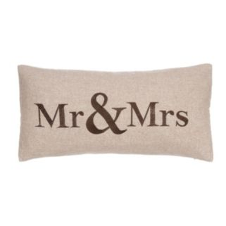 Verona ''Mr and Mrs'' Throw Pillow