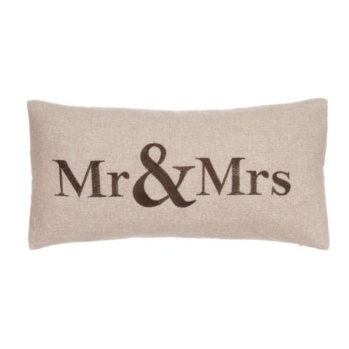 Verona ''Mr and Mrs'' Throw Pillow