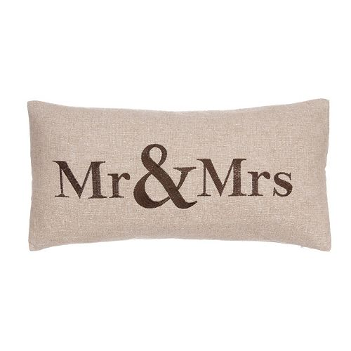 Verona ''Mr & Mrs'' Throw Pillow