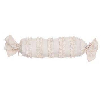 Verona Ruffled Neck Roll Throw Pillow
